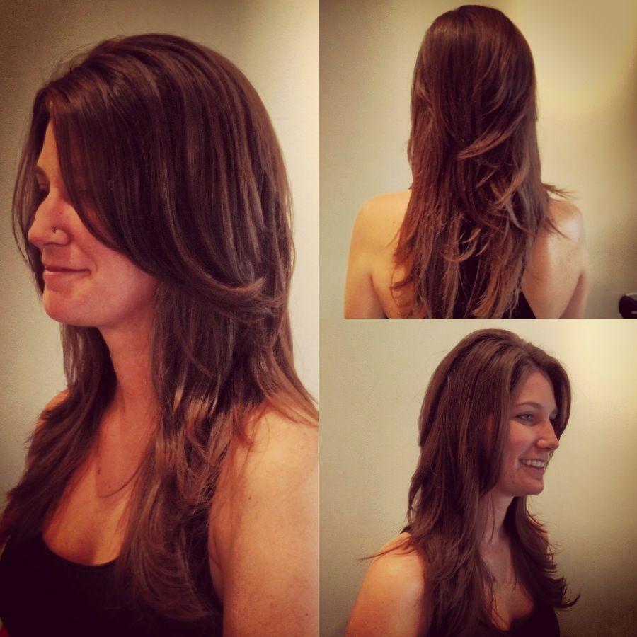 Haley Short V Cut Layers On Long Hair By Anna Armstrong Nashville Element Salon 615 383