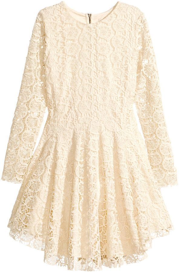966eee1475ecbd H&M Circle Dress in Lace - Natural white - Ladies on shopstyle.com ...