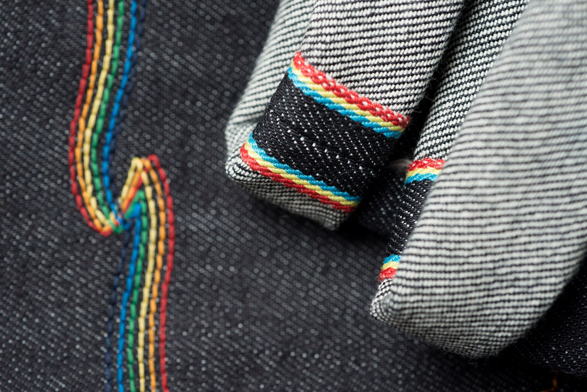 Nudie Jeans Co x Oi Polloi Grim Trim Dry Rainbow Jeans recommendations