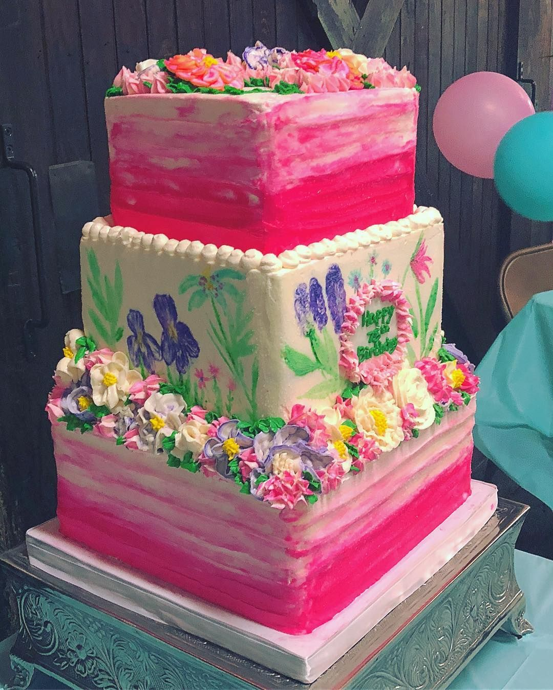 This Cake Was A Labor Of Love 75th Birthday To Serve 100 With