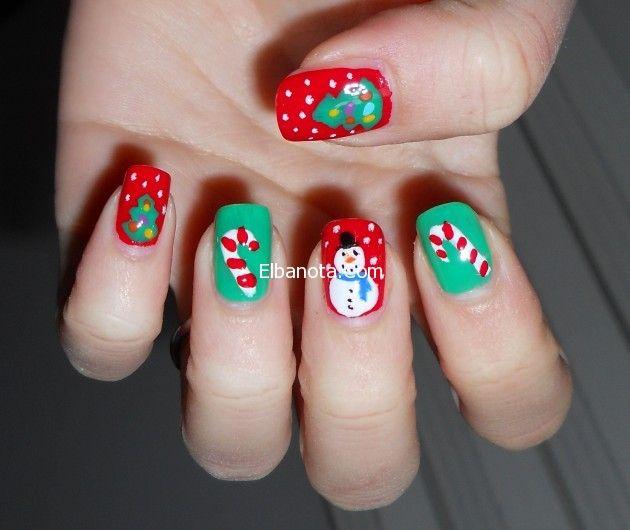 طلاء اظافر الكريسماس 2015 رسومات طلاء اظافر عيد الكريسماس 2015 Christmas Nail Designs Argyle Nails Funky Nail Art
