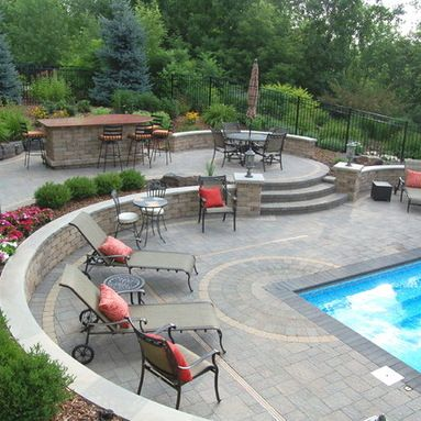 Above Ground Pool Steps Design Ideas, Pictures, Remodel and Decor