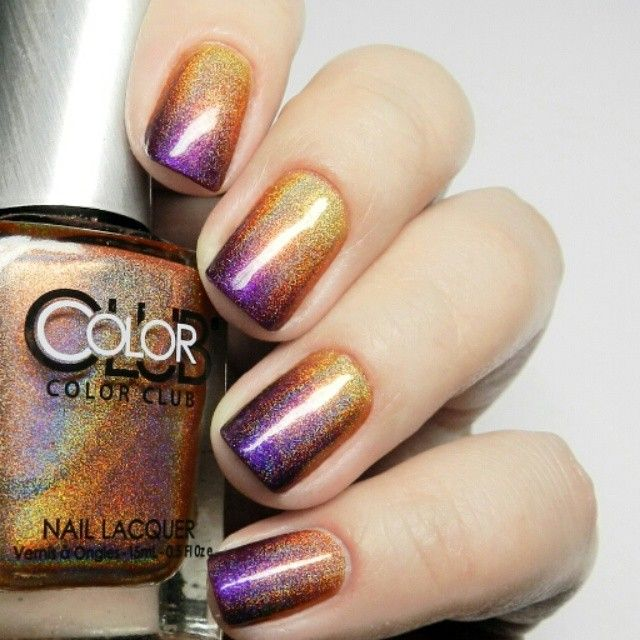 @abadesa2014 Glitter Gal Citrine (yellow), Color Club Cosmic Fate (peach) and A-England Avalon