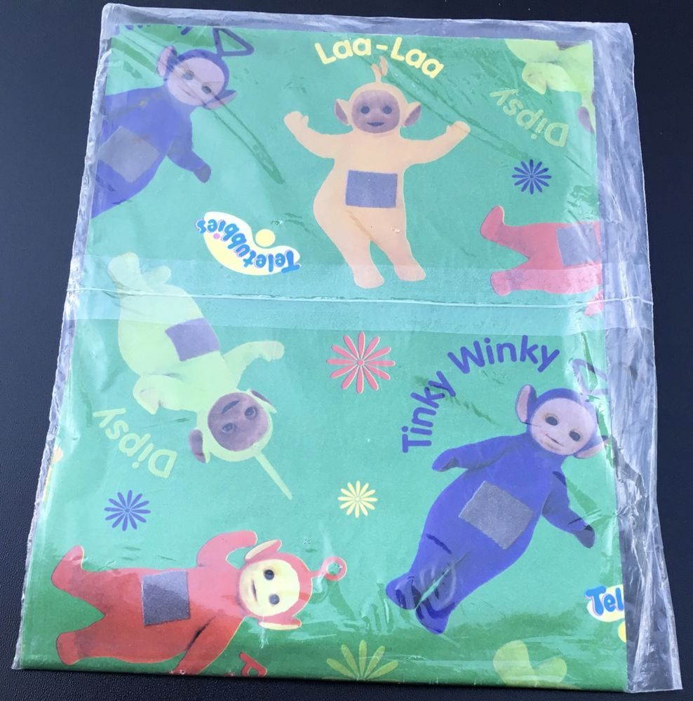Teletubbies gift wrap wrapping paper tinky winky dipsy american teletubbies gift wrap wrapping paper tinky winky dipsy american greetings green americangreetings m4hsunfo