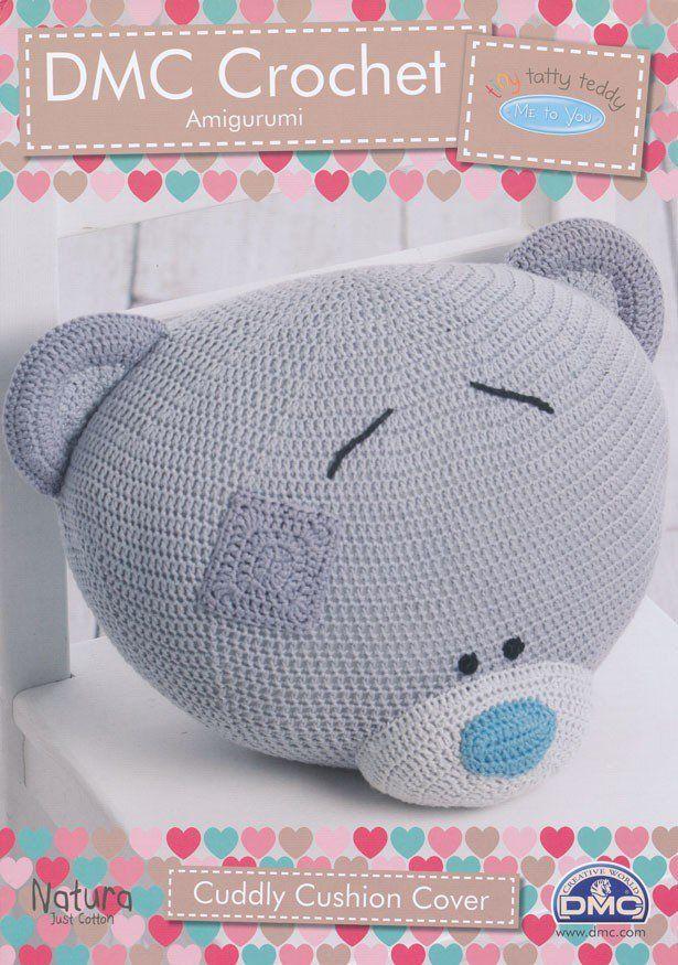Tiny Tatty Teddy - Cuddly Cushion Cover Crochet Pattern (15284L/2 ...