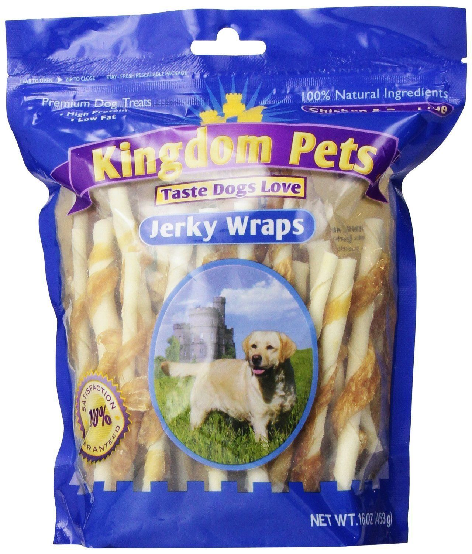 Kingdom Pets Premium Dog Treats, Chicken and Rawhide Jerky