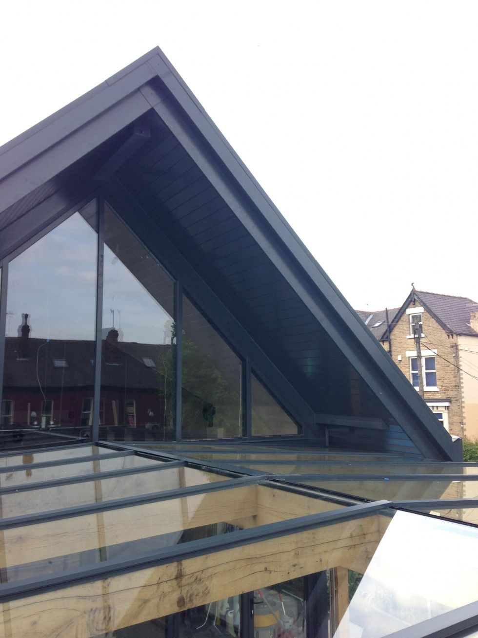 external terrace roof glass conservatory bespoke conservatories