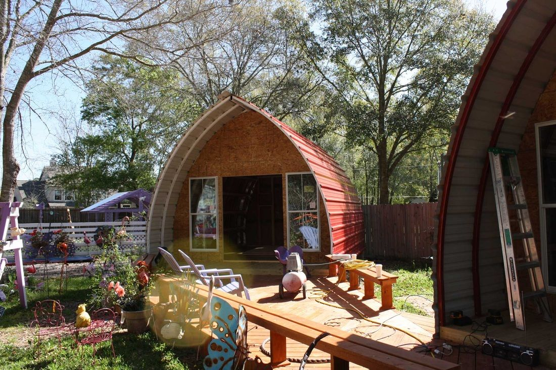 With 5 000 And A Little Determination These Folks Built A Tiny Dream Home Arched Cabin Quonset Hut Homes Quonset Homes