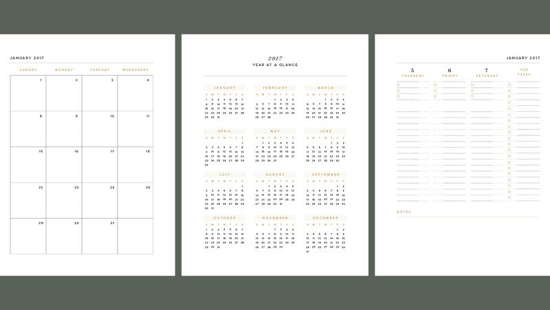 2019 year at a glance planner insert automating calendars
