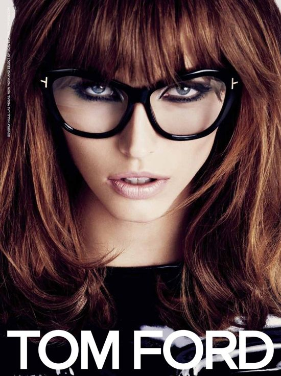 latvian model kalina caune appears in tom ford eyewear summer 2013 campaign which features modern and chic eyeclasses girl poses in studio set