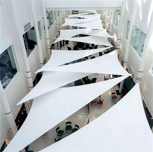 Tensile Ceiling Ceiling Canopy Architecture Tensile