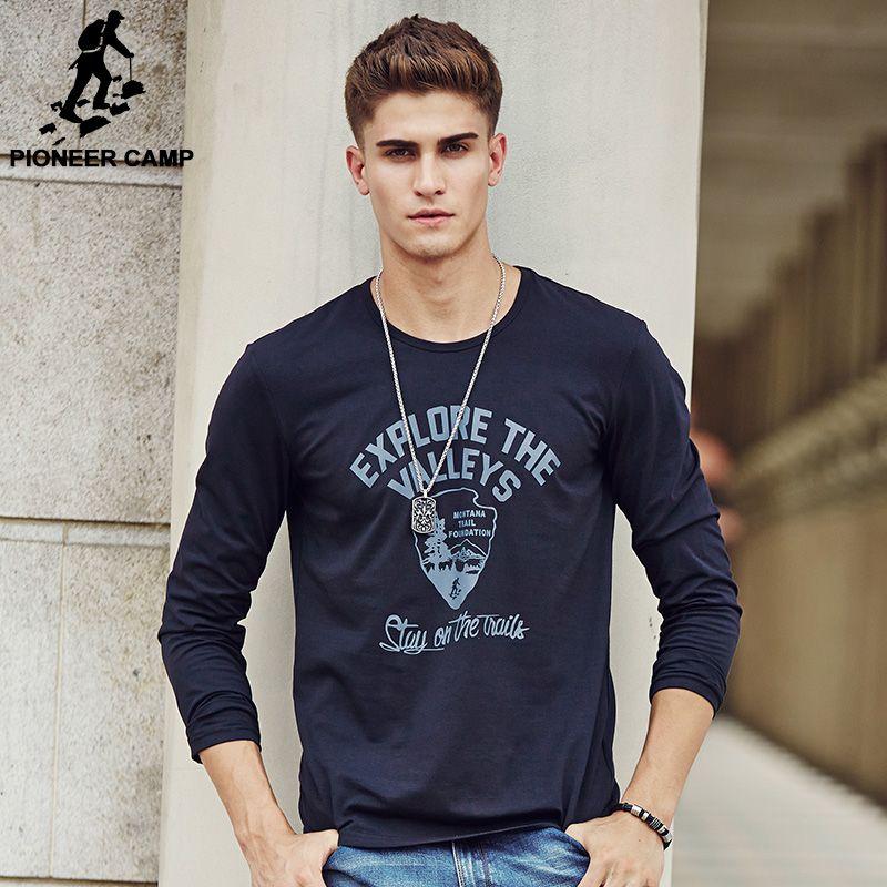 Pioneer Camp Men T Shirt New 2017 Cotton Simple Print: Aliexpress.com : Buy Pioneer Camp Hot Men T Shirt Fashion