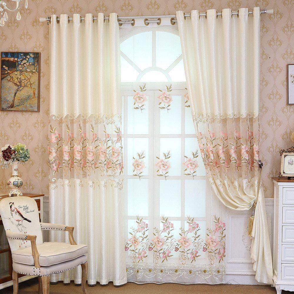 Tende Di Velluto Di Alta Qualita Per Camera Da Letto Cucina Lusso Aristocratico Reale Bianco Ricamato Ombra Alta T Curtains Living Room Curtains Flower Curtain