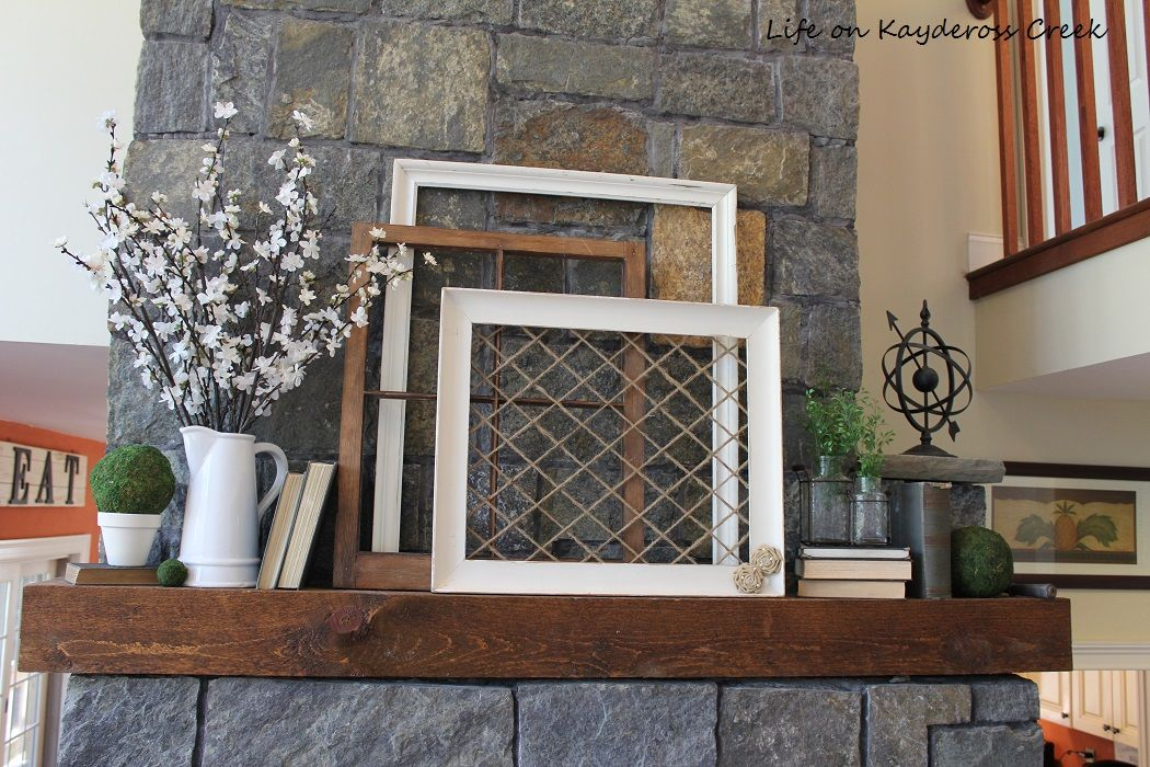 Spring Mantel Farmhouse Style and on a Budget!