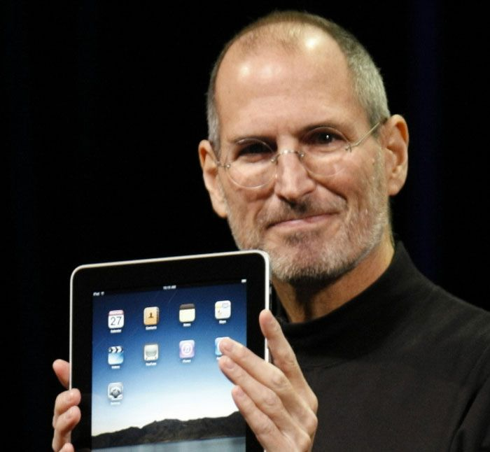 Steve @ iPad1 intro. Remember what it felt like? Look at his face :-)