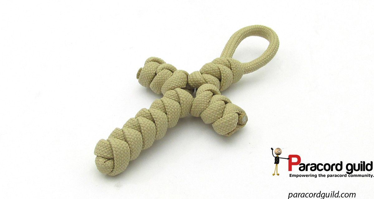 Snake knot paracord cross tutorial  | Paracord projects