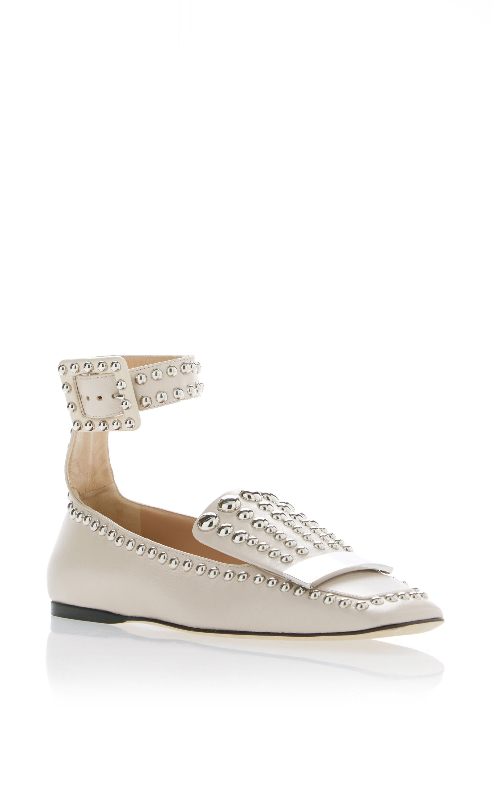 49563ad9a373 SR1 Studded Ankle Strap Loafer by SERGIO ROSSI for Preorder on Moda Operandi