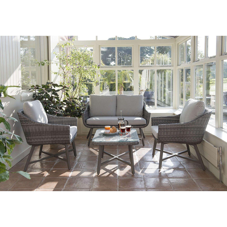 KETTLER LaMode Lounge 2-Seater Garden Sofa with Cushions