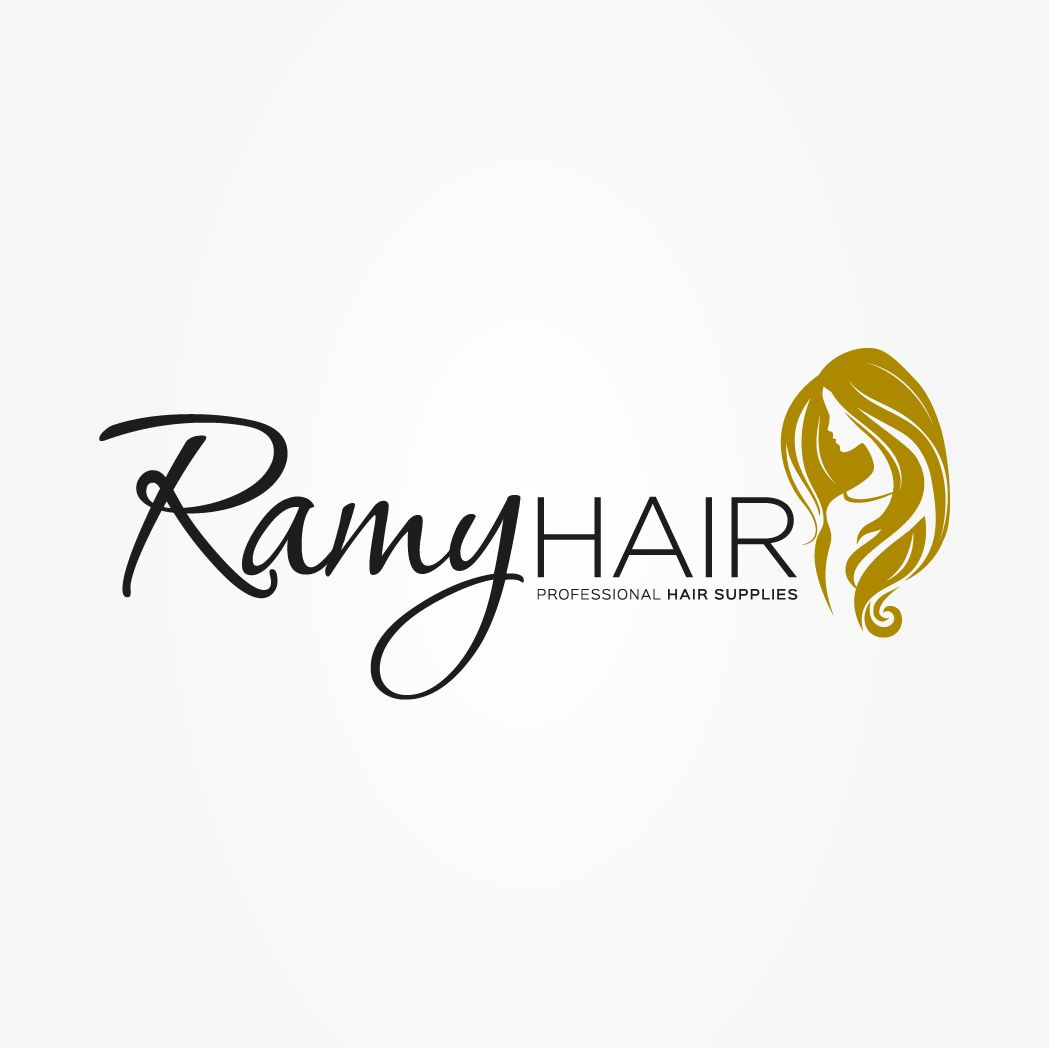 ramy hair supplied logo designed by outspoken by design