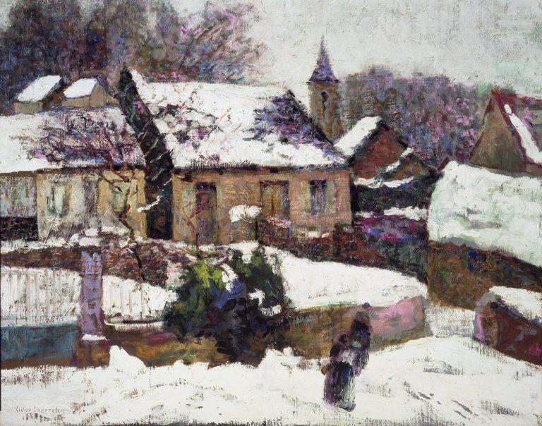 The Athenaeum - Wet Snow, Auvergne (Victor Charreton - )
