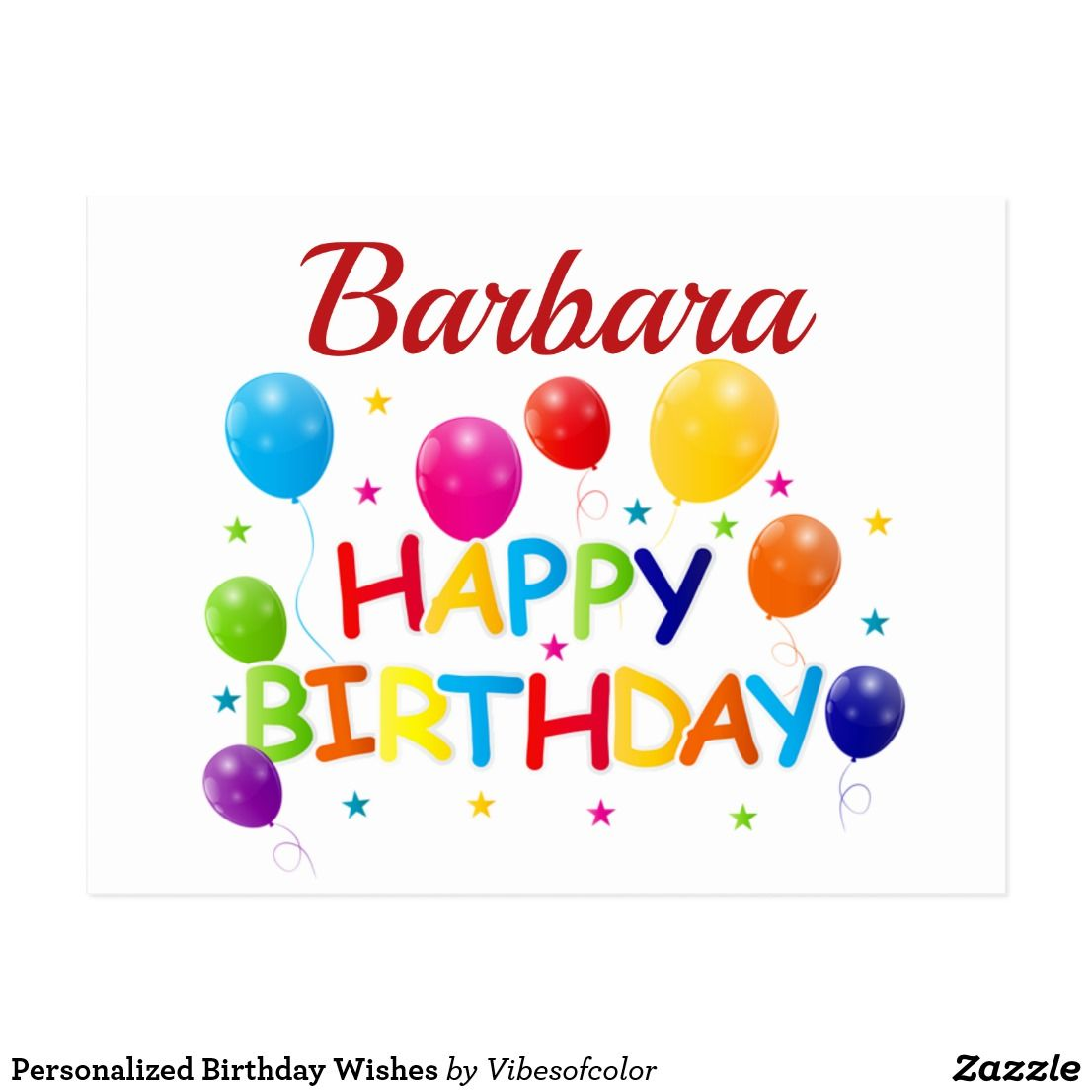 Personalized Birthday Wishes Postcard