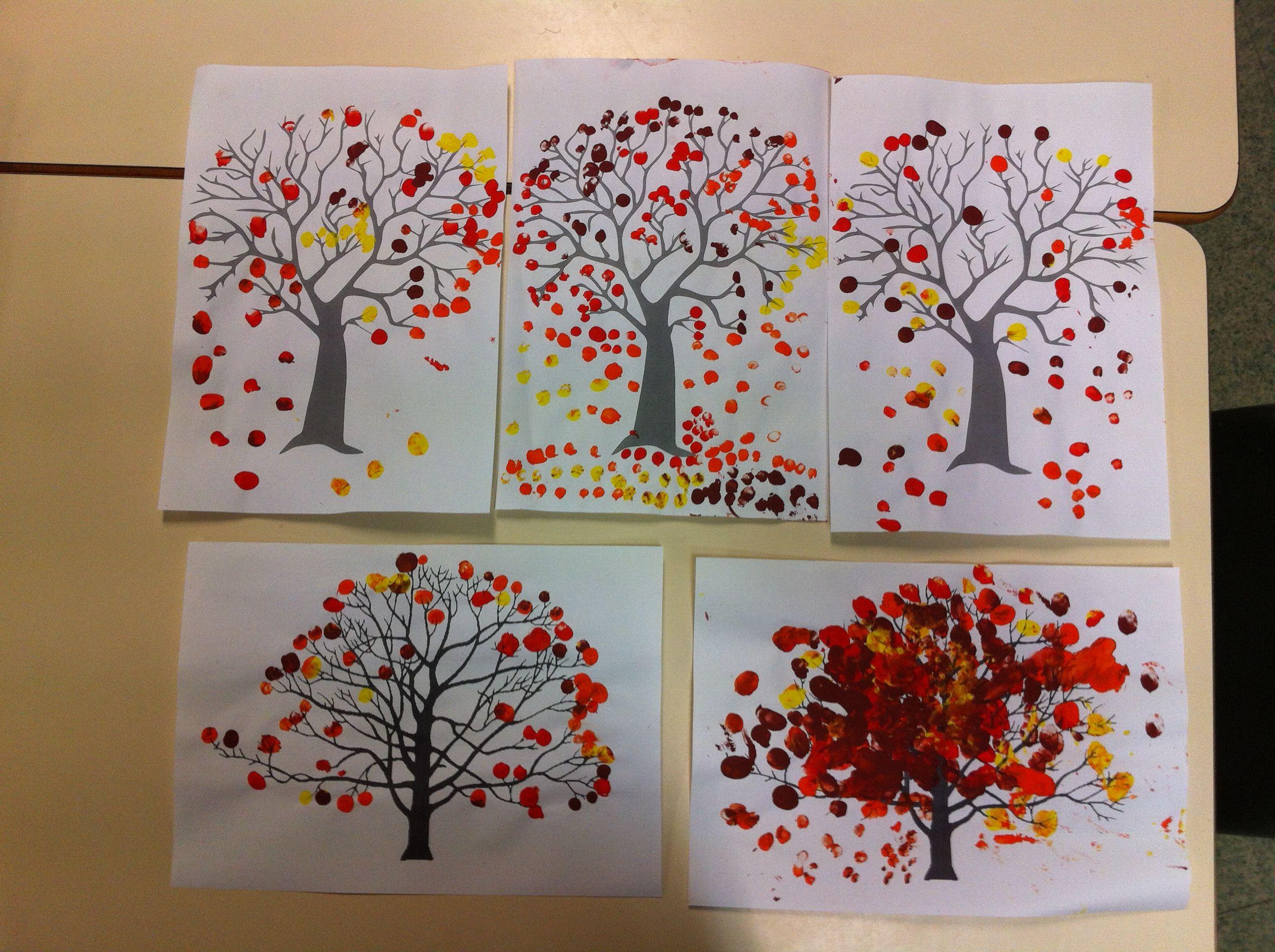nos arbres d 39 automne tr s facile et rapide l 39 arbre arbre automne automne et bricolage enfant. Black Bedroom Furniture Sets. Home Design Ideas