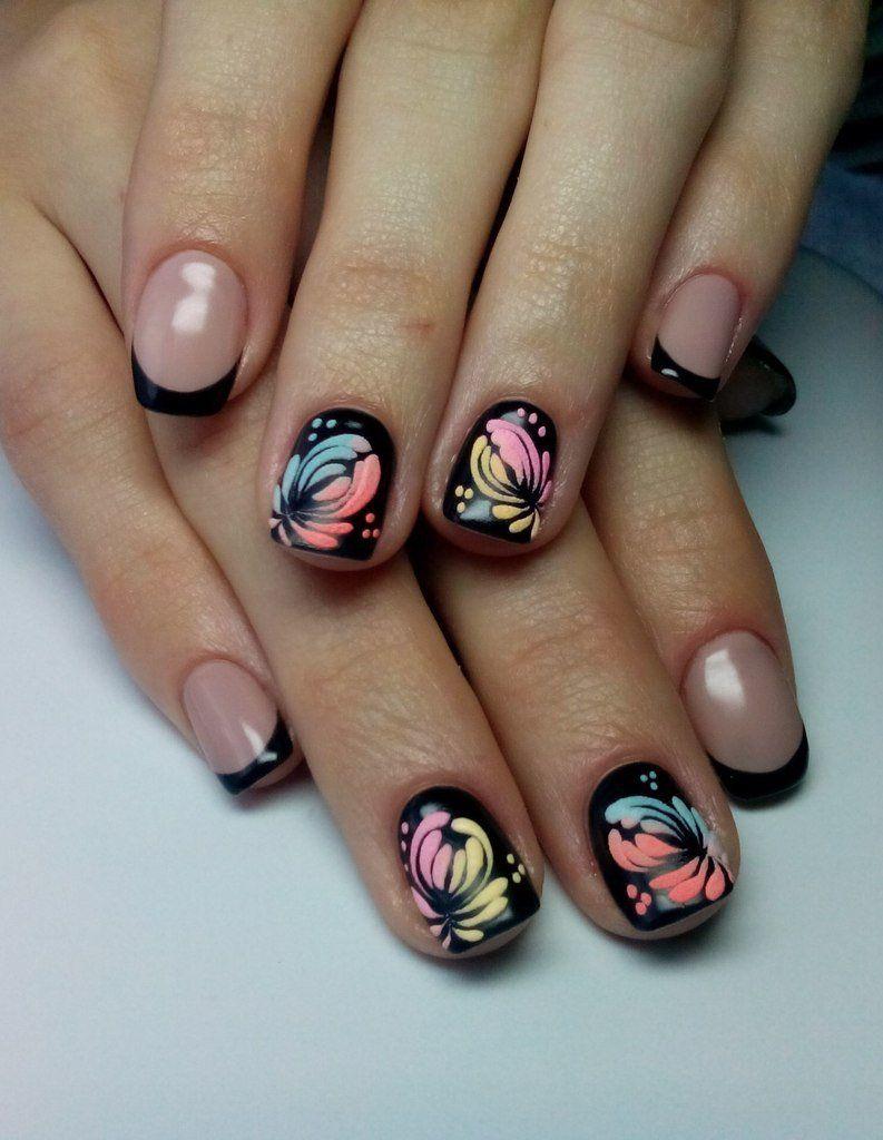 Nail Art #999 - Best Nail Art Designs Gallery | Black nails, Black ...