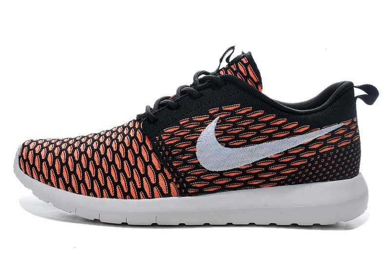 Nike Roshe One FB Noir Fluo Rose Junior Enfant