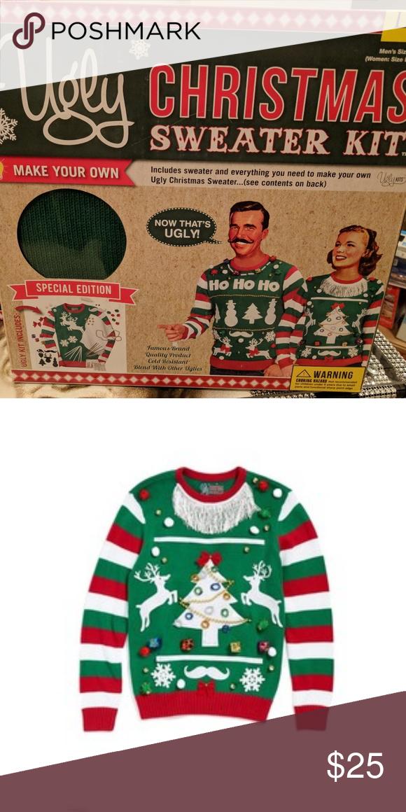 cc45a94ed 🎄 NWT Ugly Christmas sweater kit! Green
