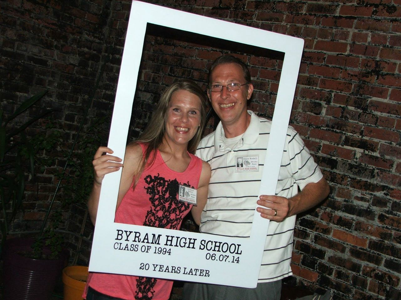 Class Reunion Photo Booth Frame 24x36 Corrugated Board Vinyl