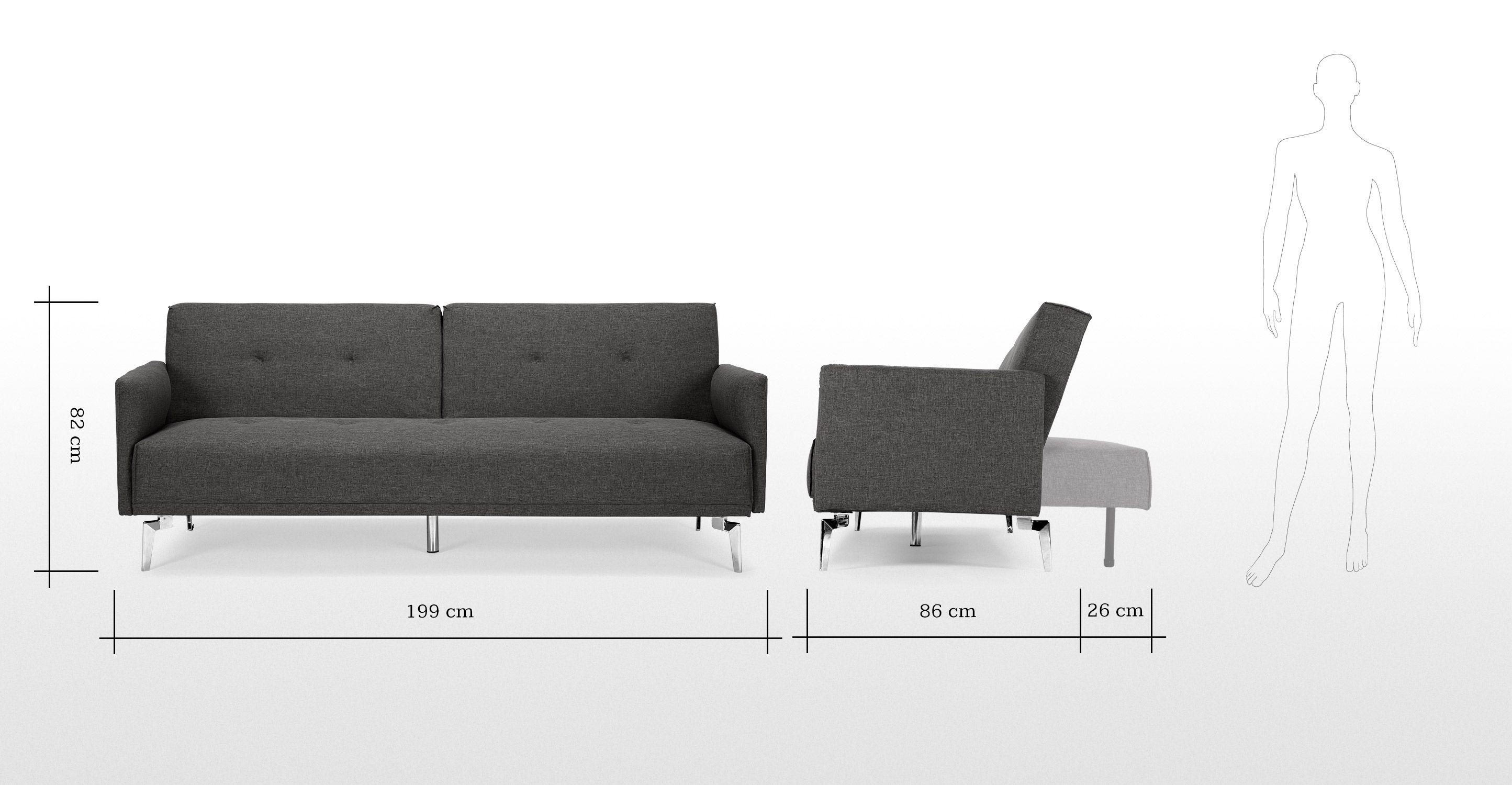 Akio Canape Convertible Gris Taupe Grey Sofa Bed Sofa Bed Sofa