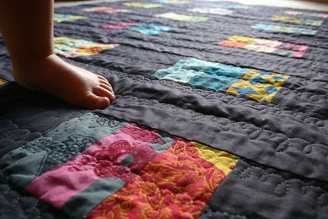 The quilting, the Good Folks fabric, the Solid - perfect!