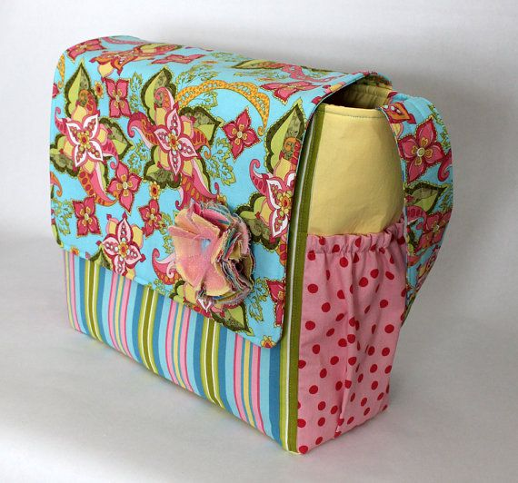 Messenger Style Diaper Bag  LARGE SIZE  Floral by TheDaisyBoxGirls, $68.50