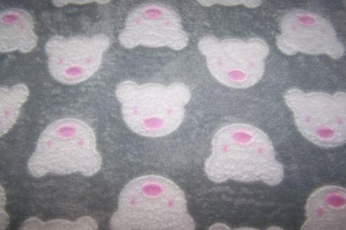 Antipilling Fleece Polarfleece Wellnessfleece Bären Bärchen Teddy grau
