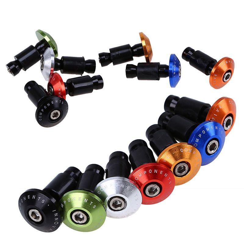 MTB Road Bicycle Aluminum Handlebar Grips Handle Bar Cap End Plugs pre