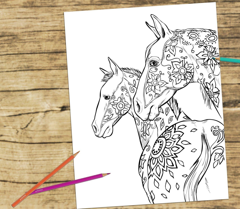 luxe kleurplaten volwassenen paarden krijg duizenden