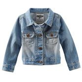 A classic addition to every OshKosh girl's closet, this denim jacket is a great layer over dresses or woven tops.<br>