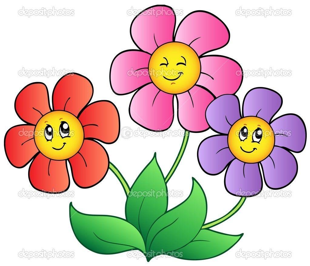 Coloring Cartoon Spring Face