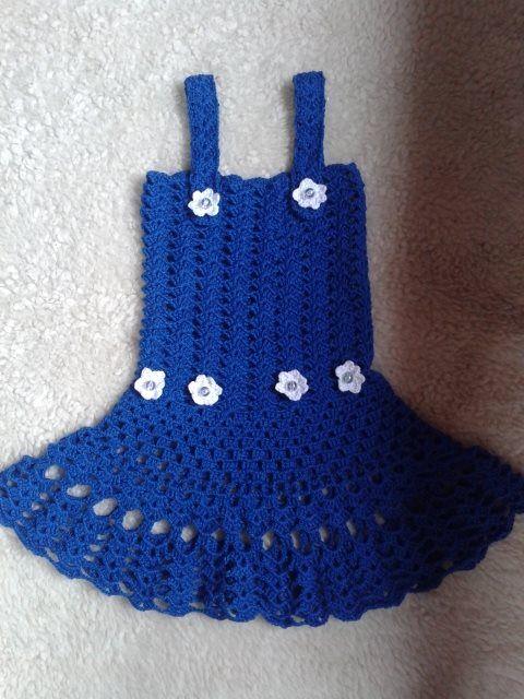 Vestido infantil - Crochê