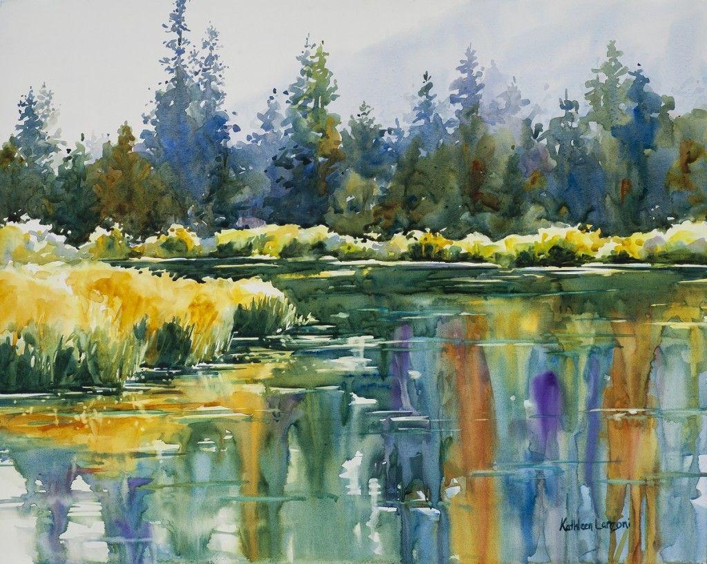 Studio Landscapes Watercolor Landscape Colorado Landscape