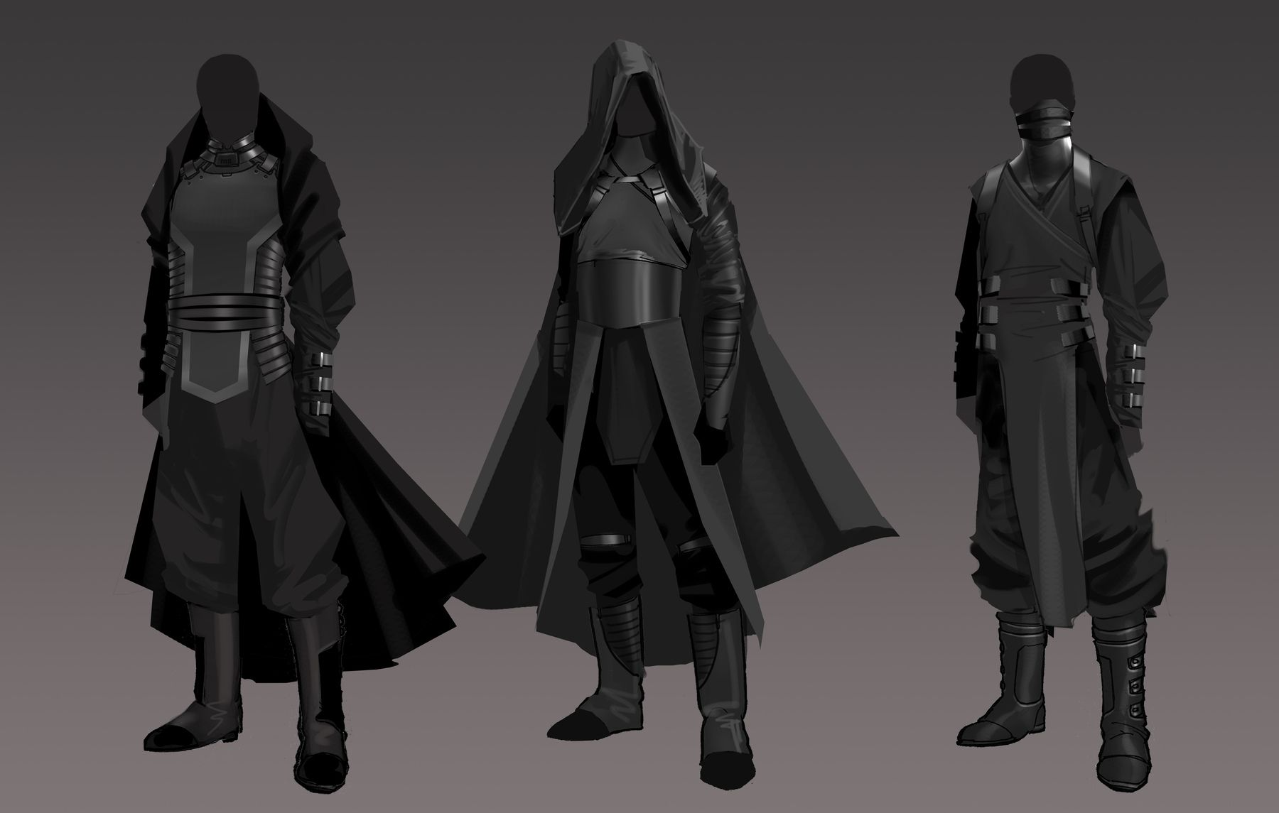 Grey Jedi Robes Concept Art