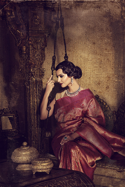 4858a955be6e Gorgeous vintage silk saree in maroon and gold.  Timeless  elegance ...