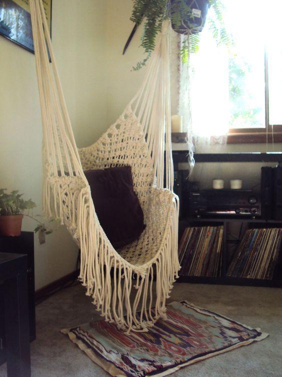 Hippy Hammock // Macrame Chair. $160.00, via Etsy.: