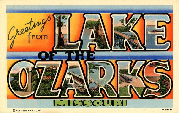 Letter Greetings Brilliant Lake Of The Ozarks Missouri Large Letter Vintage Linen Greetings .