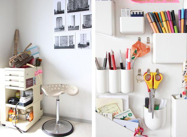 Interieur Bruxellois Bureau rangement design Vitra bureau