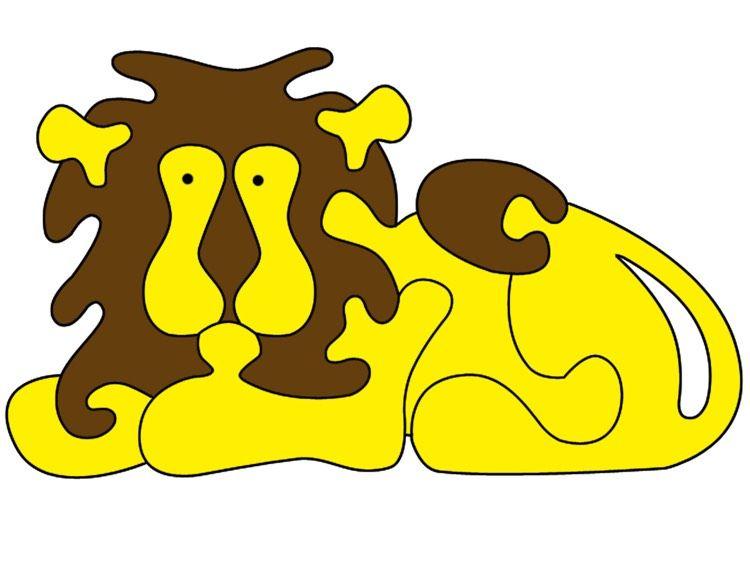 Dekupiersäge Vorlagen Kostenlos Ausdrucken Tiere Löwe Puzzle