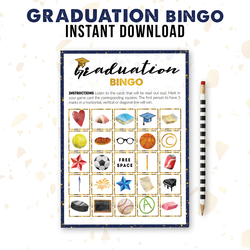 Graduation Bingo Class Of 2020 Printable Party Game Bundle Etsy Graduation Party Games Game Bundle Bingo Patterns
