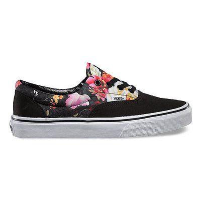 97116629ca VANS ERA FLORAL Black Multi Color Print Pattern Camo Womens Shoes Sneaker  Mens