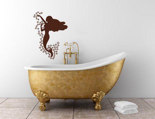 Housewares Vinyl Decal Beautiful Mermaid Sea Bubbles Bathroom Home Wall Art Decor Removable Stylish Sticker Mural Unique Design for Any Room Decal House http://www.amazon.com/dp/B00F4WH27S/ref=cm_sw_r_pi_dp_EBUUtb075GGFA35N