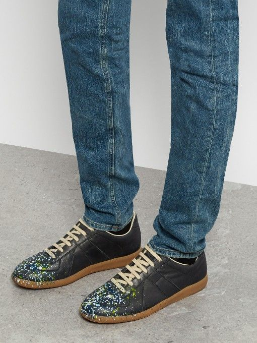 Maison Margiela Replica low-top paint-effect trainers